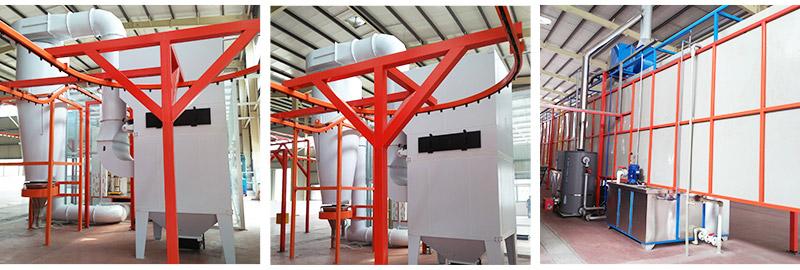 四川釜溪电力设备配件喷粉涂装线案例!