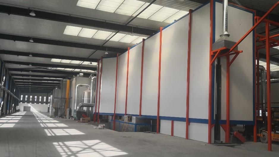 青海德宁哈6米,2米光伏支架喷漆涂装线案列