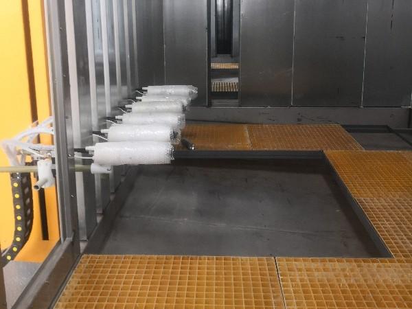 喷漆流水线中静电喷涂技术的应用-华达涂装